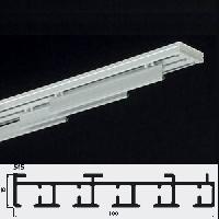 Binario A CINQUE Vie Per Tenda A Pannelli In Alluminio Bianco, Azionamento  Manuale A Teli Liberi, Completi Di Portateli Velcrati Di Serie Cm.66 (a  Richiesta ...